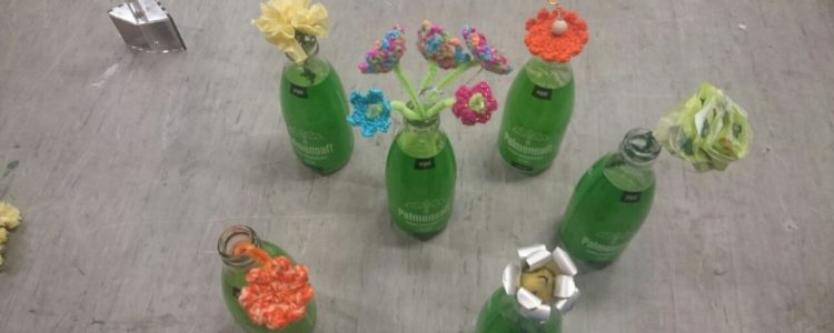 Upcycling Blumen